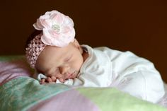 Light Pink Peony Rhinestone Flower Headband