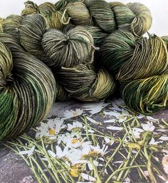 Cast on with our new Crushed Daisies colourway!