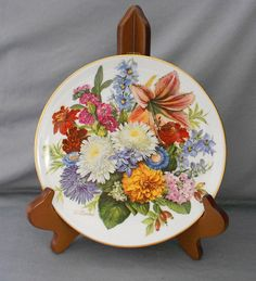 Hutschenreuther Floral Collector Plate, 'Herbst Farben' in COLLECTOR PLATES