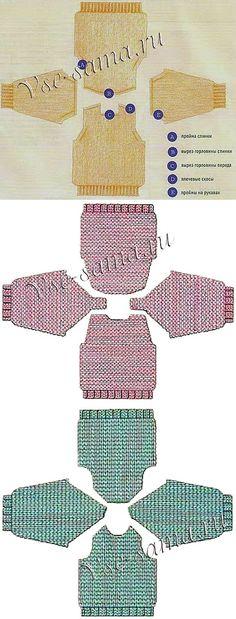 Типы пройм, убавления и закрытие петель - Учебный курс для начинающих по вязанию спицами