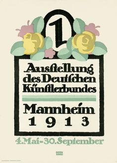 By Lucian Bernhard (1883-1972), 1913, Exhibition of the Dt. Künstler, Mannheim.
