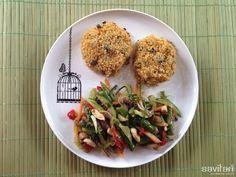 """Estoy completamente fanática de las recetas del libro """"Cocina de Mercado: Sabores Vegetarianos"""" de la Sol Fliman. Ella es la dueña del Quínoa Restaurante y sus platos son espectaculares: sabrosos y saludables!"""