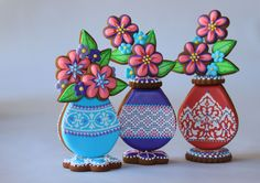 Cookie Bud Vases by Julia M. Usher, Author of Ultimate Cookies