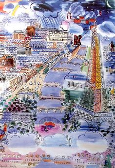Raoul Dufy -a French Fauvist painter Raoul Dufy, Art Fauvisme, Post Impressionism, Henri Matisse, Jackson Pollock, French Artists, Oeuvre D'art, Gustav Klimt, Painting & Drawing