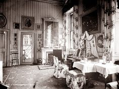 Photo of The Queen Victoria Dressing Room in the South Wing of Buckingham Palace by photographer unknown during the reign of Queen Victoria (1819-1901) UK. Credit: The Lothians Blog Oct 2012 by Don001.