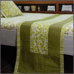 BaliZen Collection : Bed Runner- Prada Summer Green Fair trade luxury