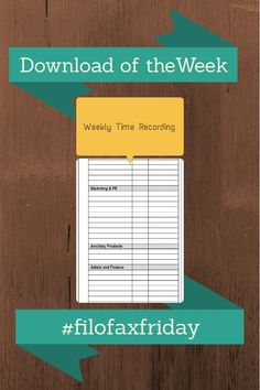 Time Recording Planner Insert: Weekly Summary (Personal Sized)