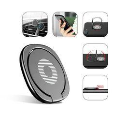 For Cell Phone Universal Magnetic Holder Car Mount 360° Finger Ring Desk Bracket