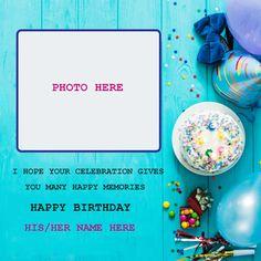 Happy Birthday Love Cake, Birthday Cupcake Images, Birthday Card With Photo, Unique Birthday Cakes, Special Birthday Cakes, Happy Birthday Template, Birthday Photo Frame, Happy Birthday Flower, Birthday Photos
