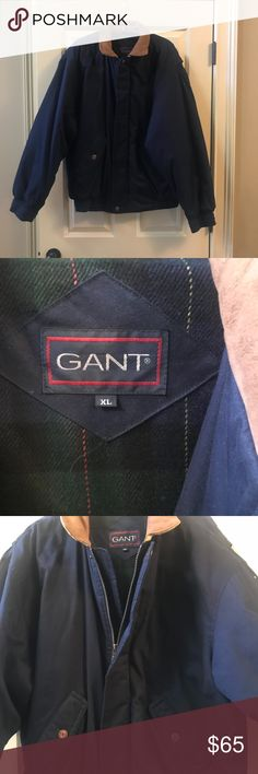 Men's Winter Jacket Gant Cotton Winter Coat with Leather Collar Nice dress or casual wear Only worn one time No flaws or signs of wear LIKE NEW Gant Jackets & Coats