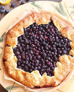 Blueberry Lemon Galette, the rustic, less intimidating, more forgiving, easier to slice….and equally delightful cousin of the blueberry… Original Recipe, Sweet Dreams, Blueberry, Waffles, Peanut Butter, Lemon, Yummy Food, Posts, Rustic