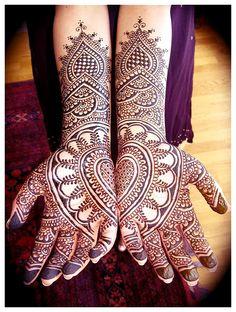 Henna hand heart