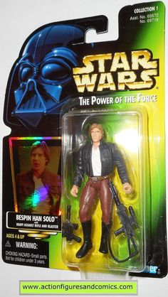 star wars action figures HAN SOLO BESPIN power of the force hasbro toys moc