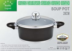 7.1 Quart Stock Pot (soup pot) with Non-stick German Weilburger Ceramic Coating by Healthy Legend - Induction Ready, ECO Friendly Non-toxic Cookware *** Details can be found by clicking on the image.