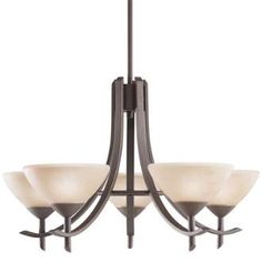 View the Kichler 1679 Olympia Single-Tier  Chandelier with 5 Lights - Stem Included - 27 Inches Wide at LightingDirect.com.