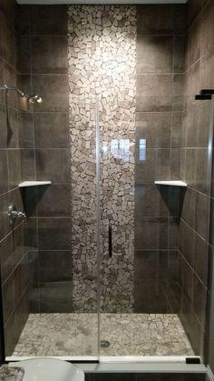 29 Popular Bathroom Shower Tile Design Ideas And Makeover. If you are looking for Bathroom Shower Tile Design Ideas And Makeover, You come to the right place. Here are the Bathroom Shower Tile Design. Master Bathroom Shower, Bathroom Floor Tiles, Modern Bathroom, Bathroom Ideas, Serene Bathroom, Bathroom Storage, Bathroom Organization, Vanity Bathroom, Bathroom Cabinets