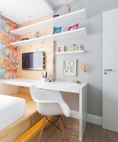 ARQUITETURA E DESIGN ✨ (@decorcriative) n Decor, Home, Bedroom Design, Bedroom Furniture, Small Bedroom Designs, Room Remodeling, Girl Room, Home Office Design, Living Room Designs