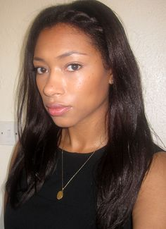 Straight relaxed hair with braid at the front. To learn how to grow your hair longer click here - http://blackhair.cc/1jSY2ux