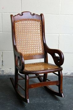 1890's Lincoln Children's Rocking Chair from the Eastlake Era. I just purchased one a couple of weeks ago for my new grandbaby coming.