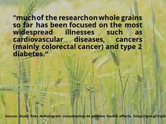 awesome #quote Study links #wholegrain consumption to positive health effects