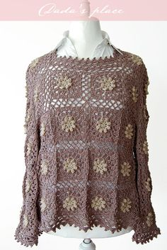 Get ready to think spring when you create the Primavera Flower Tunic. The flowing tunic is light, airy, and best of all features the popular crochet granny square in a beautiful pattern that will look sharp and stylish.