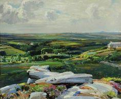 'TREWOOFE FROM THE CAIRN, CORNWALL' | Samuel John Lamorna Birch     ✫ღ⊰n
