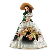 Gone with the Wind - Thomas Kinkade - Figurine Collection Thomas Kinkade, Picnic Dress, Precious Moments Figurines, Bradford Exchange, Gone With The Wind, Collectible Figurines, Film, Sculptures, Party