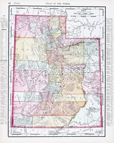 Map of Utah Detailed road map of the state of Utah Quality
