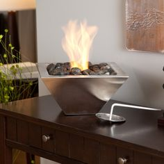 Anywhere Fireplace Empire Table Top Indoor / Outdoor Fireplace - Fire Pots at Hayneedle Tabletop Fireplaces, Indoor Outdoor Fireplaces, Fire Pit Wall, Metal Fire Pit, Tabletop Fire Bowl, Portable Fireplace, Gazebo, Fire Pots, Rustic Fire Pits