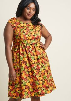 81b859c15fa80 <p>You declare your love for all things autumnal by wearing this patterned  dress to your town's fall celebration! As you enjoy a caramel apple and  visit ...