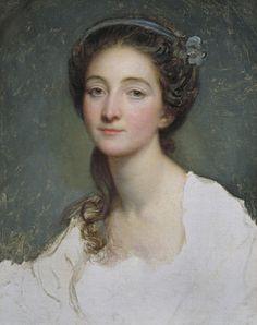 Sophie Arnould (1744–1802) actress & singer. Portrait by Jean-Baptiste Greuze (1725–1805)  c.1773