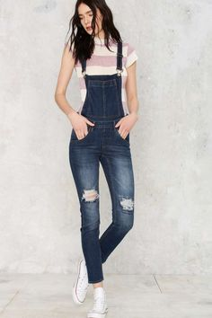 Cheap Monday Dungaree Overalls - Carbon Blue - Clothes | Rompers + Jumpsuits | Feminine Utilitarian | Overalls