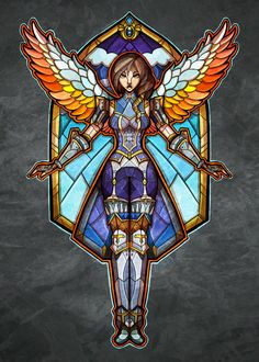 Stained Glass Furia by TheStarBear