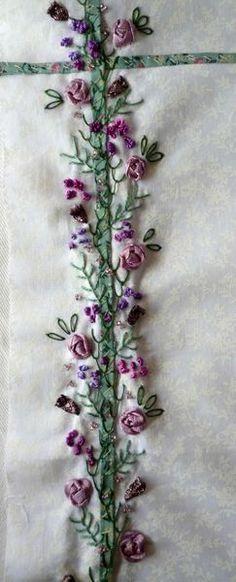 ribbon embroidery seam treatment
