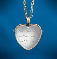 Digital Template for 1 Heart Glass Tile by GlassTileTemplates