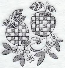 blackwork Apple