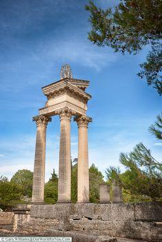 The remains of the Temple, Glanum, Saint-Rémy-de-Provence, France