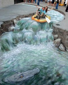 Astonishing trompe-l'oeil drawings by Julian Beever