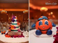 Otto Wedding Cake Syracuse University, Cake Decorating, Wedding Cakes, Treats, Orange, Desserts, Graduation, Wedding Ideas, Usa