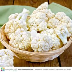 #Cauliflower holds numerous #health benefiting #phyto-nutrients such as #vitamins, indole-3-carbinol, sulforaphane etc., that help prevent #overweight, #diabetes and offer protection from prostate, ovarian, and cervical #cancers. #ResetTips #foodfact #healthy #veggies