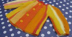 Här har ni mönster på en lättstickad bebiskofta. Första gången jag stickade den var för ca 30 år sedan, hittade mönstret i mina gömm... Baby Knitting Patterns, Diy And Crafts, Pullover, Children, Sweaters, Tips, Fashion, Young Children, Moda