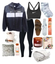 """Untitled #191"" by thorntonangel on Polyvore featuring Free Press, NIKE, Birkenstock, S'well, Vera Bradley and Safavieh"