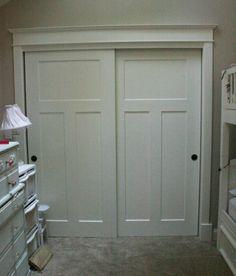 We Just Put Wainscoting On Our Broken Mirrored Closet Door
