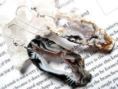 Evangelica, LONG- Geode Slice Earrings. $38.00, via Etsy.