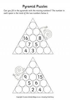 Addition Pyramid Worksheets & y3 formal written addition