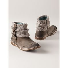 Women's Sweater Ankle Boots from Sahalie on shop.CatalogSpree.com, your personal digital mall.