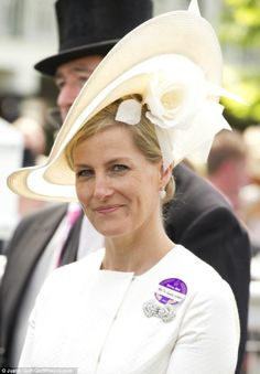 Smiling Sophie: The Countess of Wessex beams for the camera at Royal Ascot today...