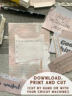 """Printable Gratitude Quotes and """"Washi"""" tape set Art Journal Prompts, Art Journal Techniques, Art Journals, Bullet Journals, Washi Tape Set, Gratitude Quotes, Printer Paper, Planner Pages, Abstract Shapes"""