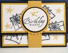 Stampin Up card class Birthday gift card or $$ holder