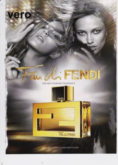 FAN di FENDI 2011 magazine ad print page open + sniff fragrance parfum cologne